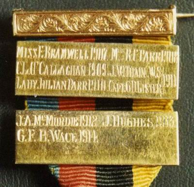 The 'Gleneagles' medal - bars